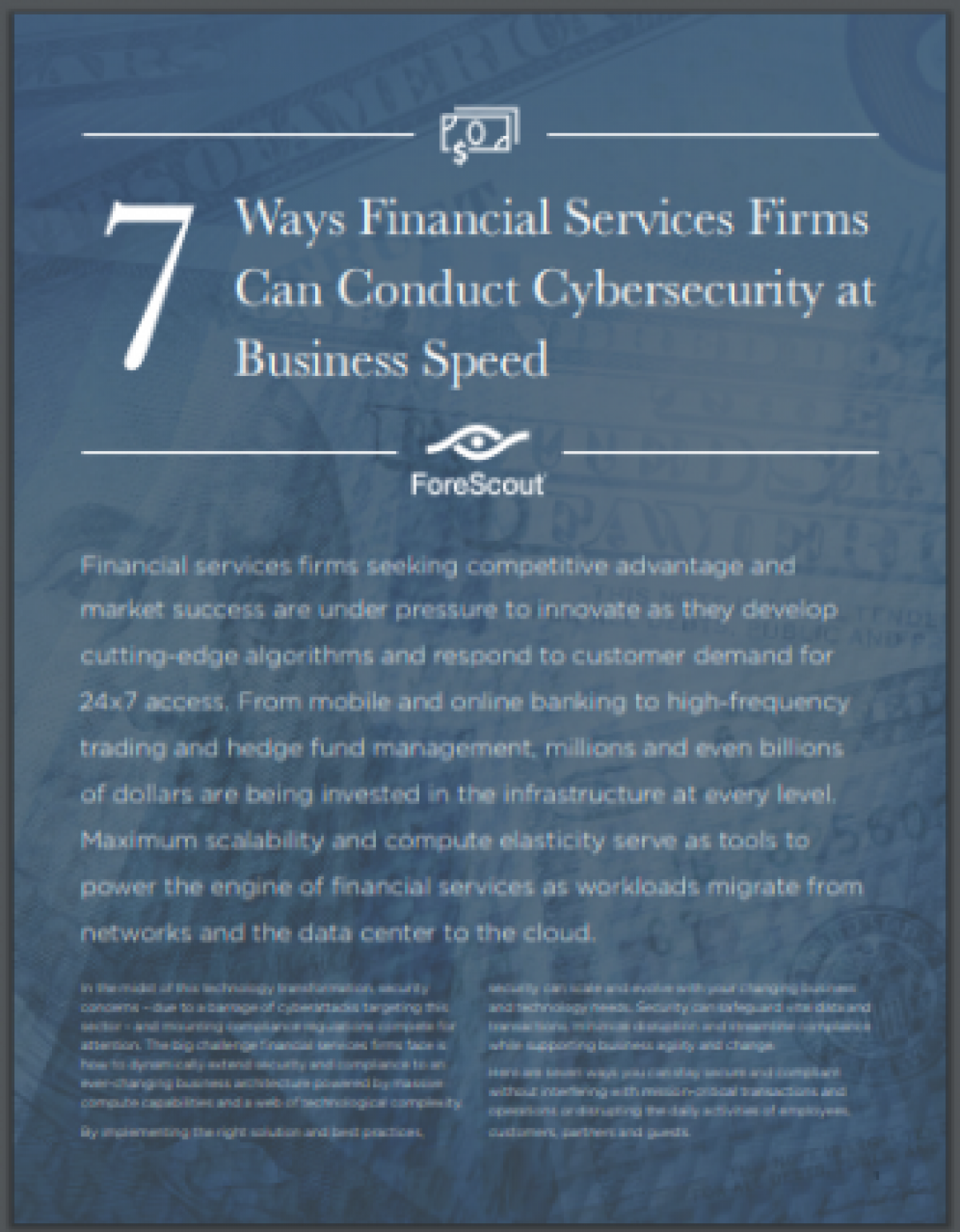 7 Ways Financial Services Firms Can Conduct Cybersecurity at Business Speed