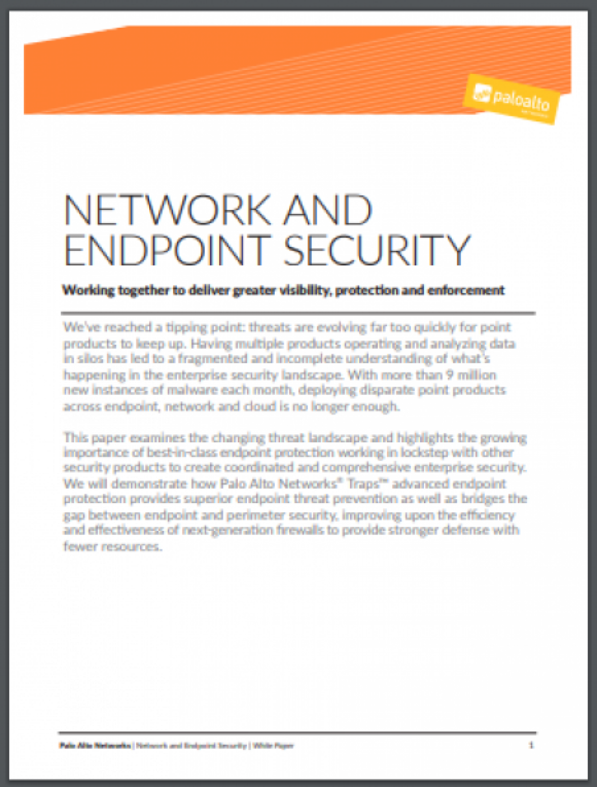 NETWORK AND ENDPOINT SECURITY