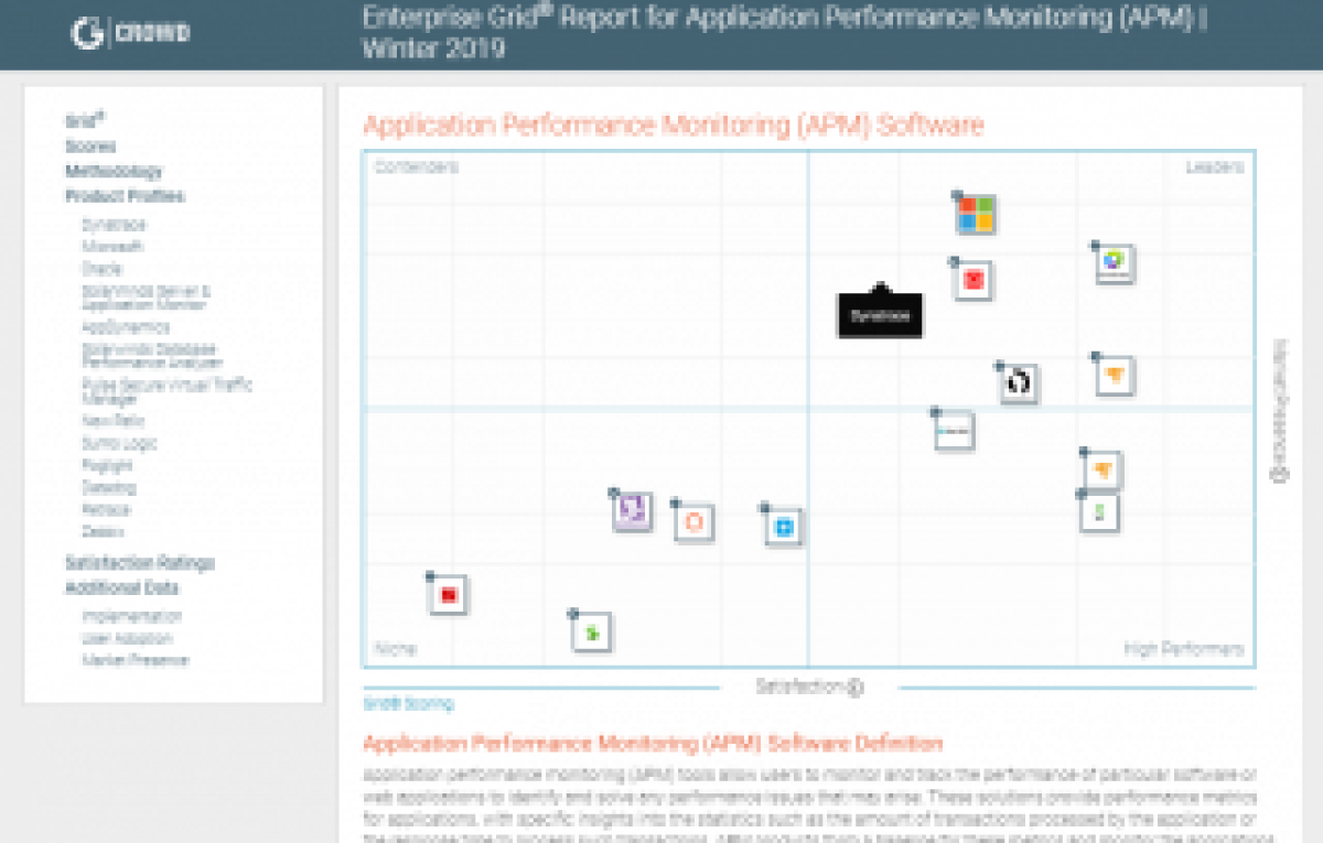 Grid® Report for Application Performance Monitoring (APM)
