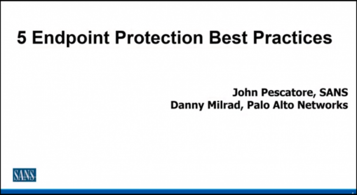 5 Endpoint Protection Best Practices