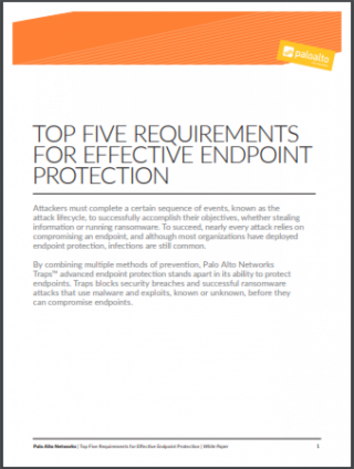 5 Requirements for Effective Endpoint Protection