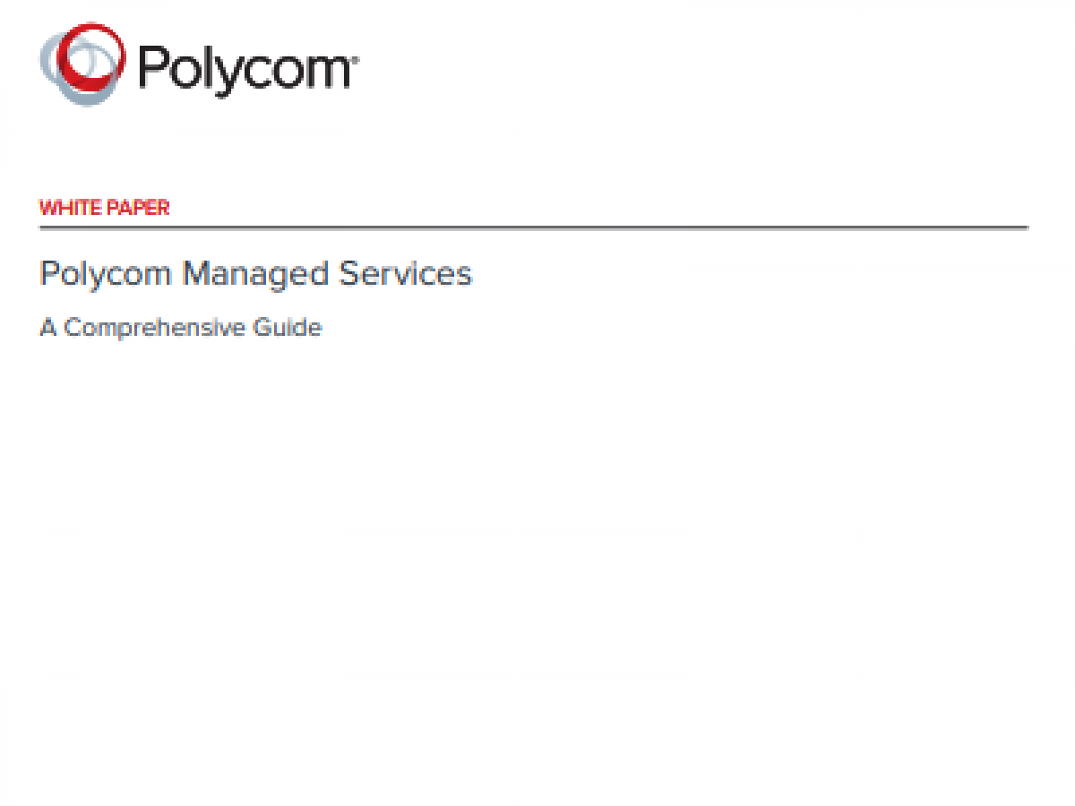 Polycom Managed Services